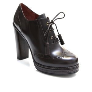 Marc by Marc Jacobs Black Oxford High Heel Booties